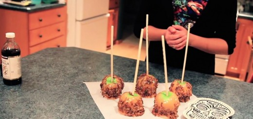 Pomme dessert halloween ver de farine entomophagie