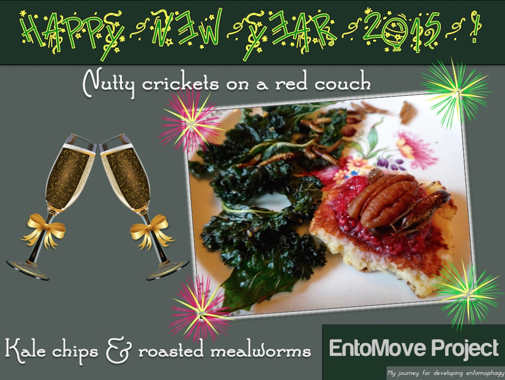canapé cricket mealworms kale glutenfree
