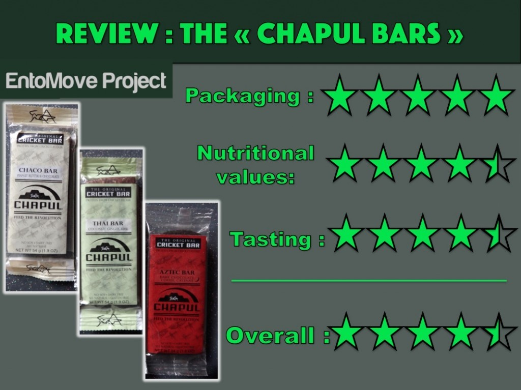 Chapul bars cricket paleo insects food entomophagy