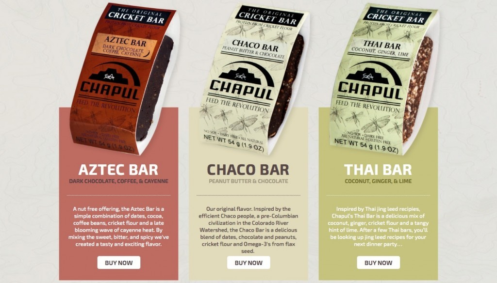 Chapul bars cricket paleo insects food entomophagy entomoveproject