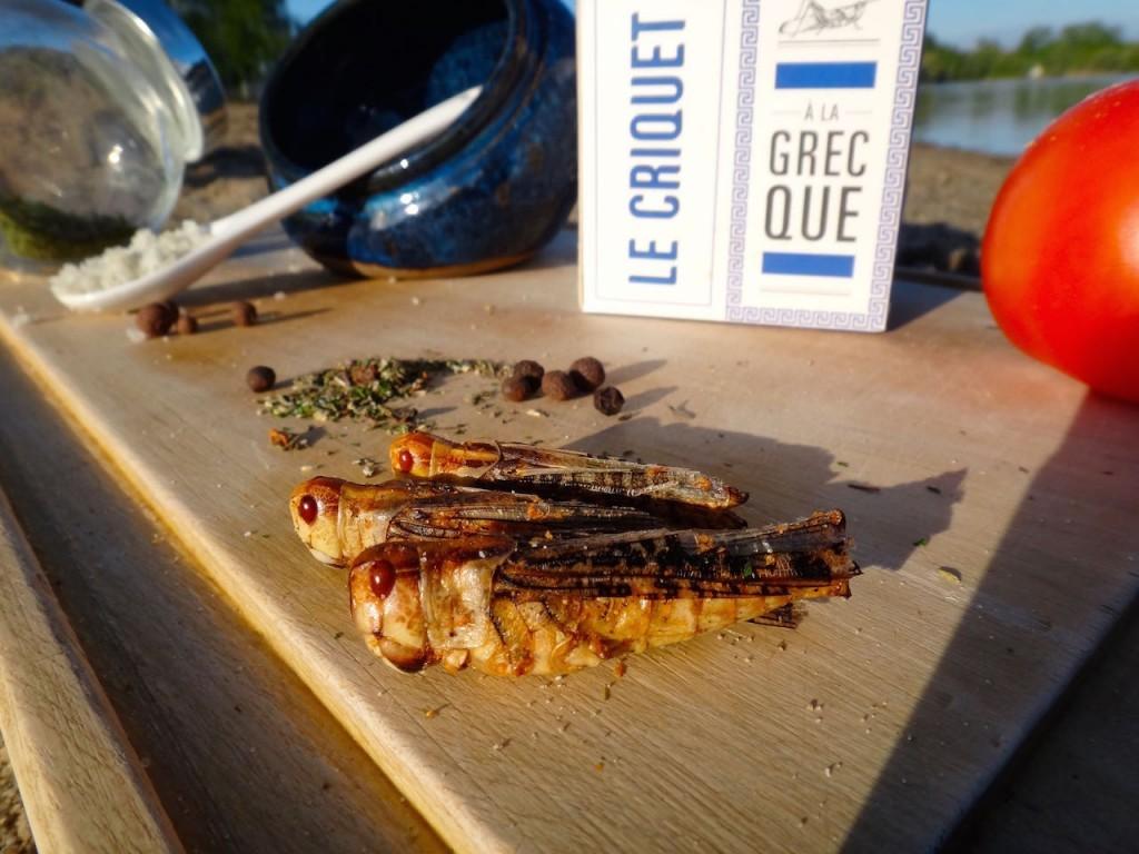 jiminis criquet entomophagie insectes comestibles recette protéines test de produit degustation nutrition grèce