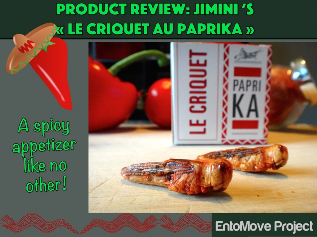 jiminis paprika recipe edible insect entomophagy entomoveproject snack