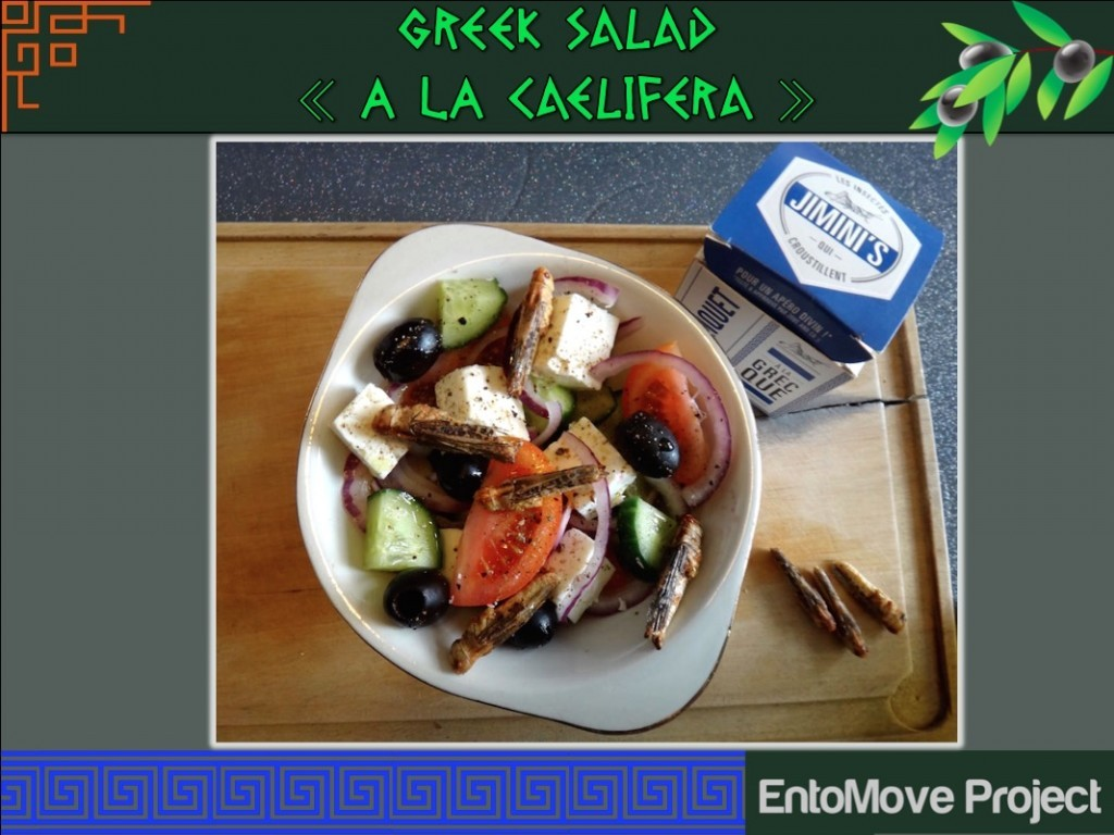 salad greek insect grasshopper entomophagy insects edible fitness paleo recipe