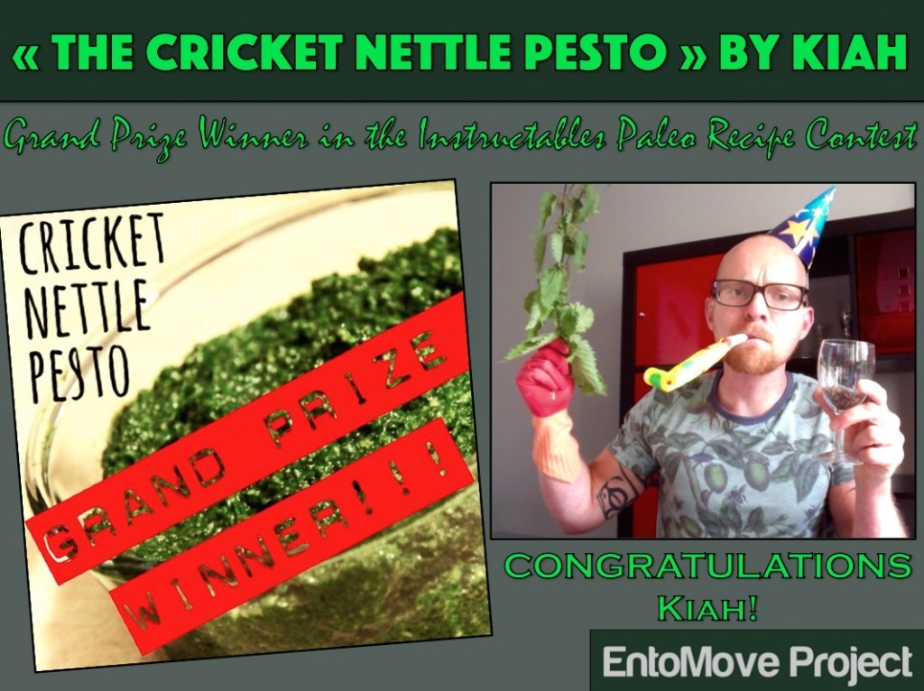 cricket nettle pesto entomophagy edible insects recipe paleo