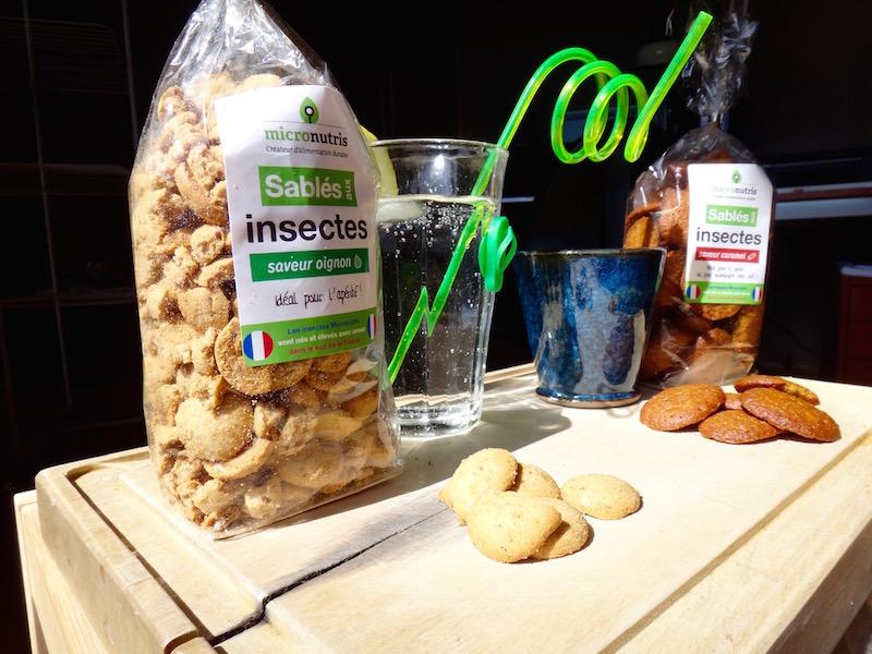 micronutris gateaux insectes comestibles caramel sablés oignon