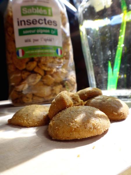 micronutris gateaux insectes comestibles sablé oignon apéritif