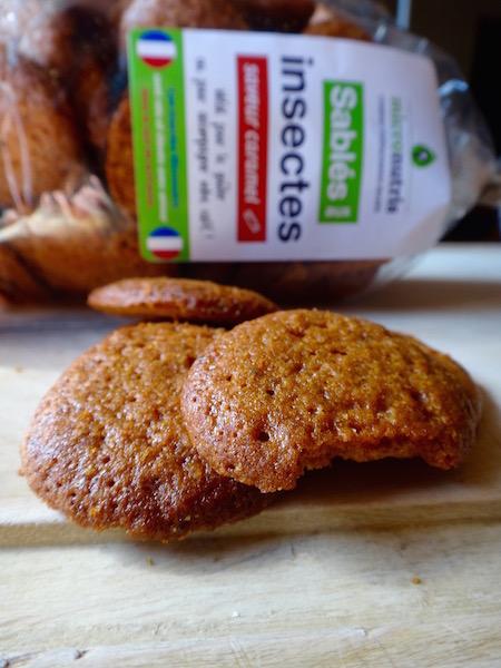 micronutris gateaux insectes comestibles sablé caramel goûter
