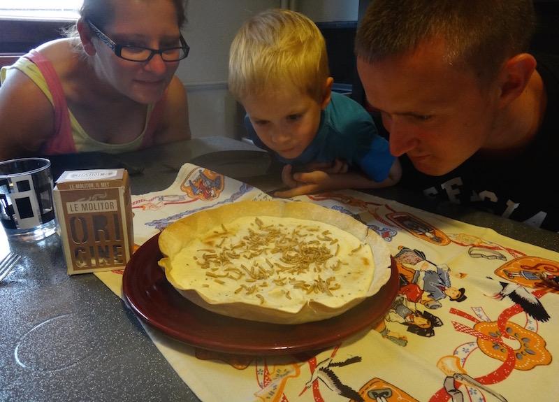 wedefi jiminis strasbourg tarte flambée edible insectes comestibles recette cuisine - 1