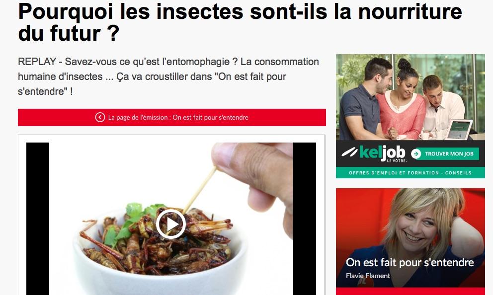 Insectes comestibles alimentation du futur rtl