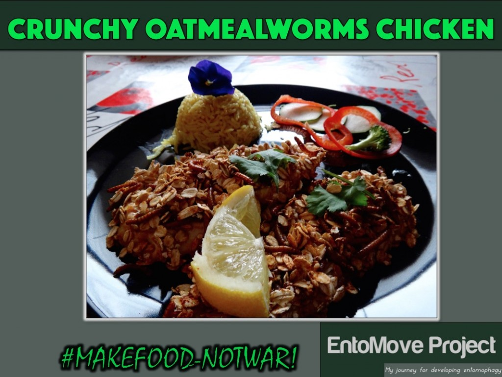 oatmeal mealworms oat chicken entomophagy edible insects entomoveproject proteins recipe health fitness